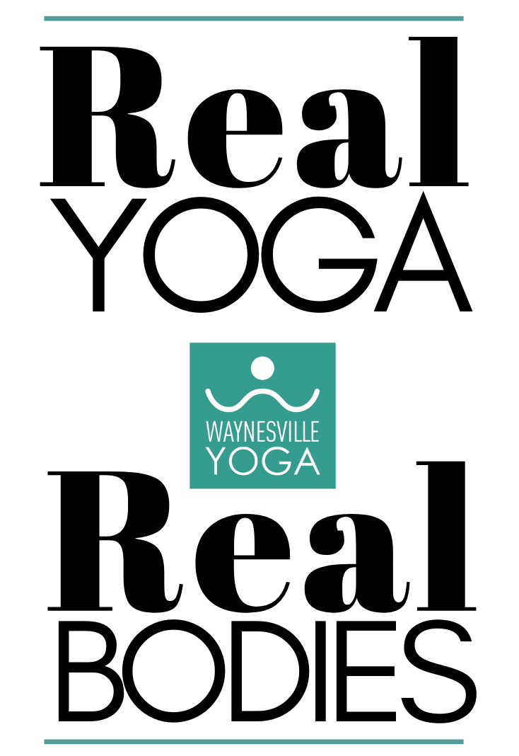 Real Yoga Real Bodies Logo Waynesville Yoga Center