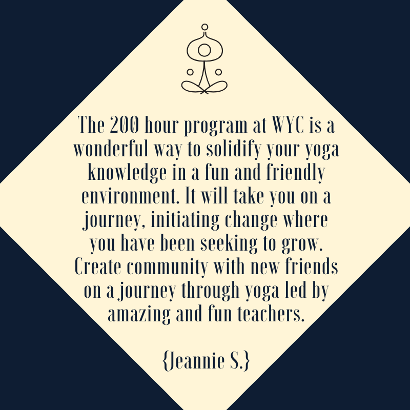 This is a quote from a 2019 YTT 200 hour yoga teacher training student